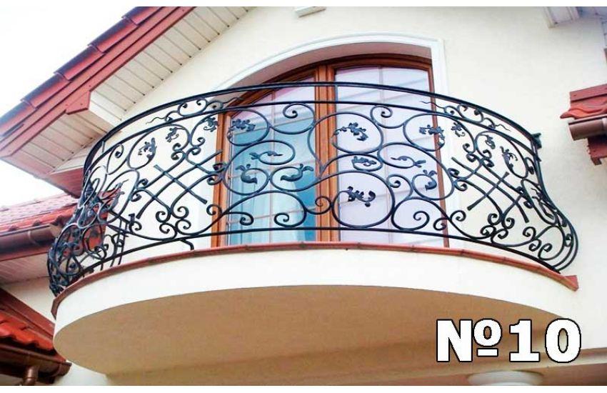 Кованое ограждение балкона образец