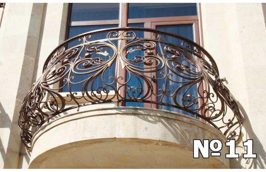 Металлическое ограждение балкона фото