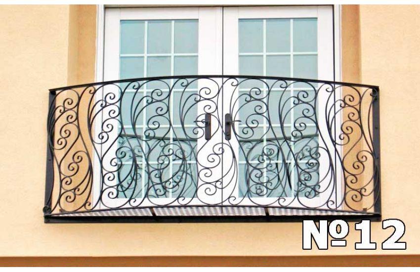 Металлическое ограждение балкона образец