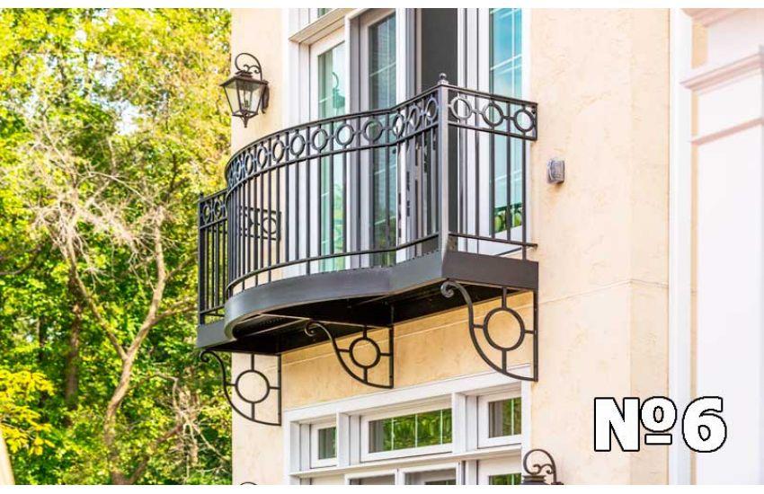 Кованое ограждение балкона фото