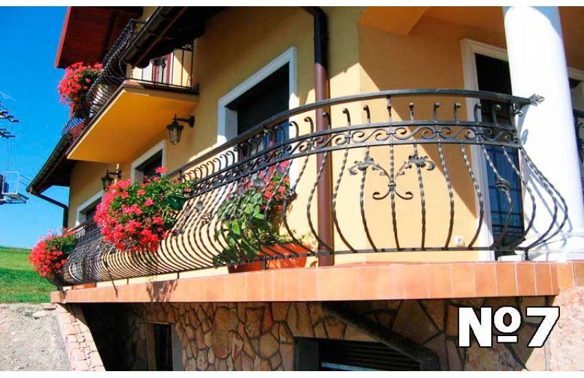 Кованое ограждение балкона для дома