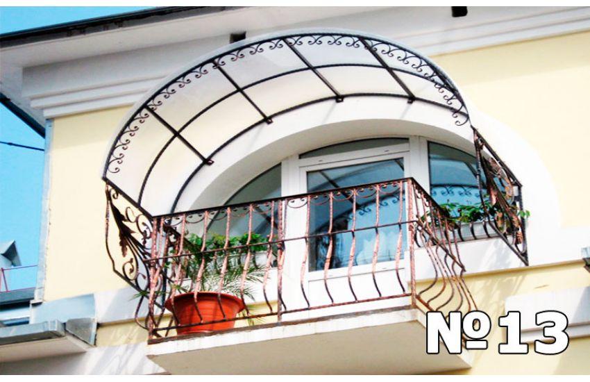 навес на балкон дома