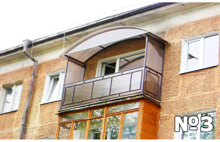 навес над балконом в частном доме