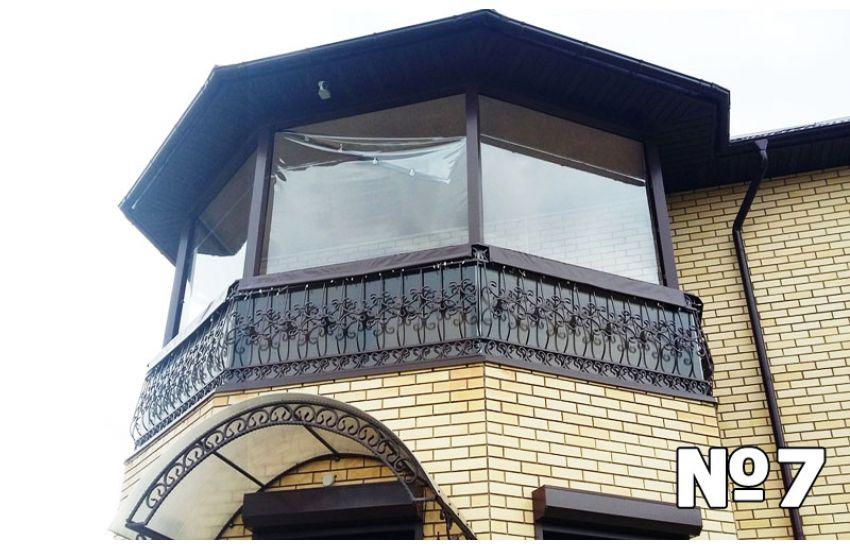 навес из поликарбоната на балконе