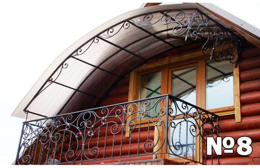 навесы над балконом фото