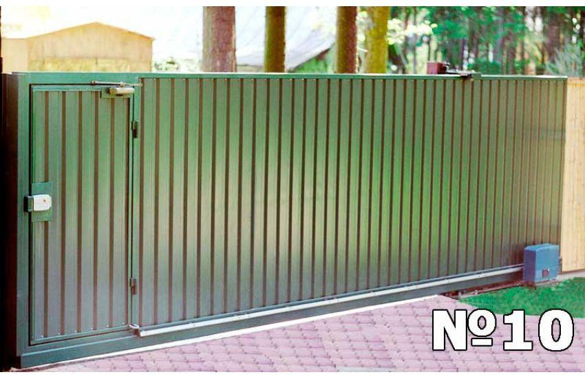 Откатные ворота для дачи с автоматикой