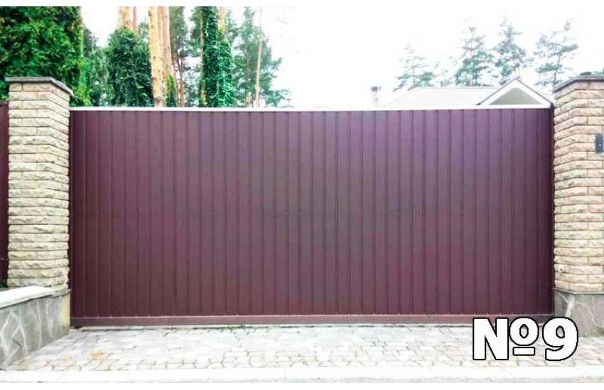 ворота сдвижные в Бронницах фото