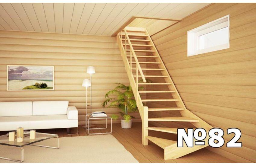 деревянная лестница для дачи домодедово с установкой
