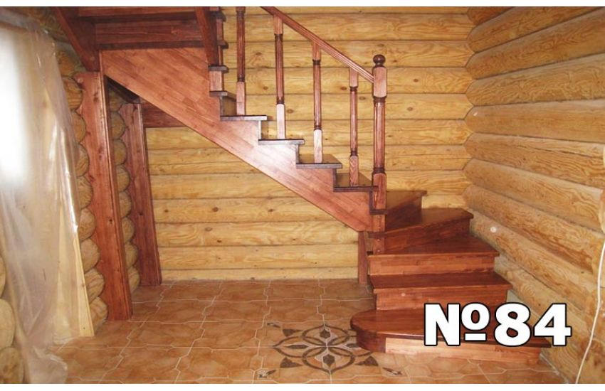 деревянная лестница для дома домодедово под ключ