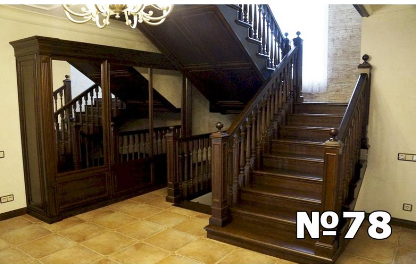 деревянная лестница для дома домодедово