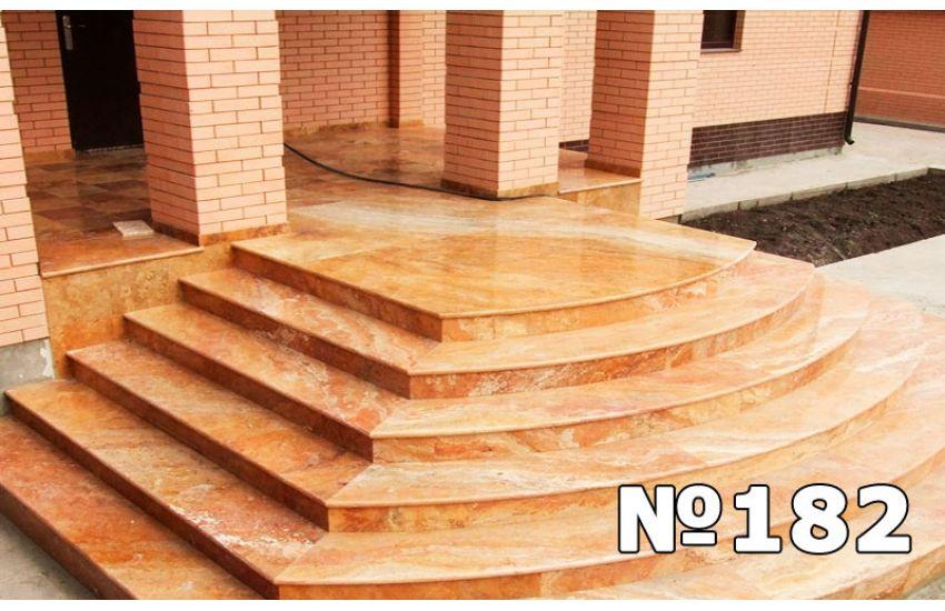 монтаж гранитных ступеней на бетонную лестницу