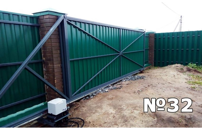 установка откатных ворот в климовске