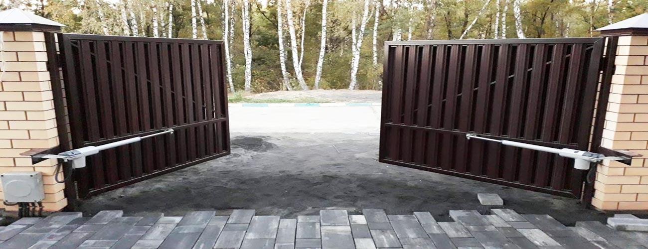распашные автоматические ворота климовск
