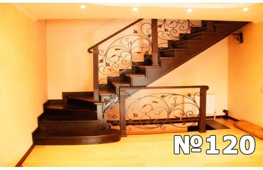 комбинированная лестницана второй