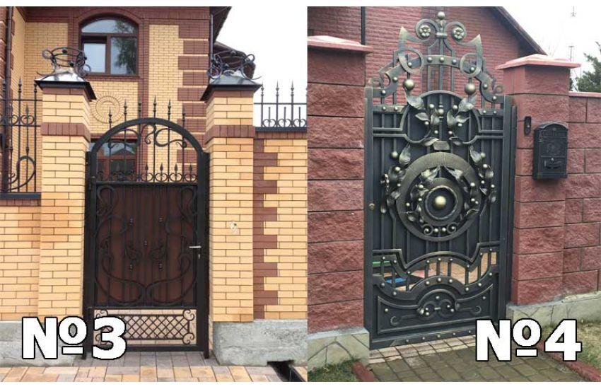 кованые ворота и калитки фото цена
