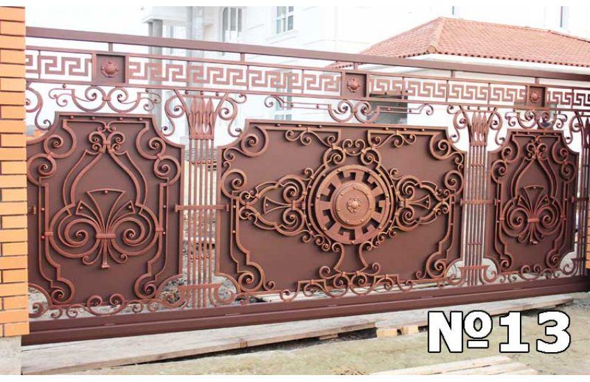 Кованые ворота для дома фото