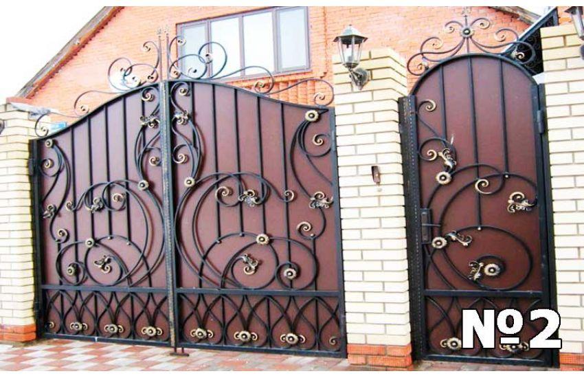 Кованые ворота в Жуковском