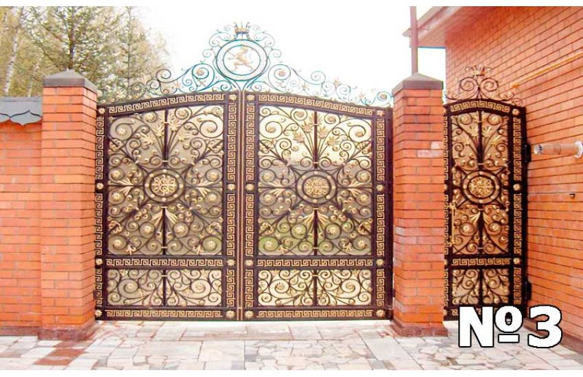 Кованые ворота в Домодедово