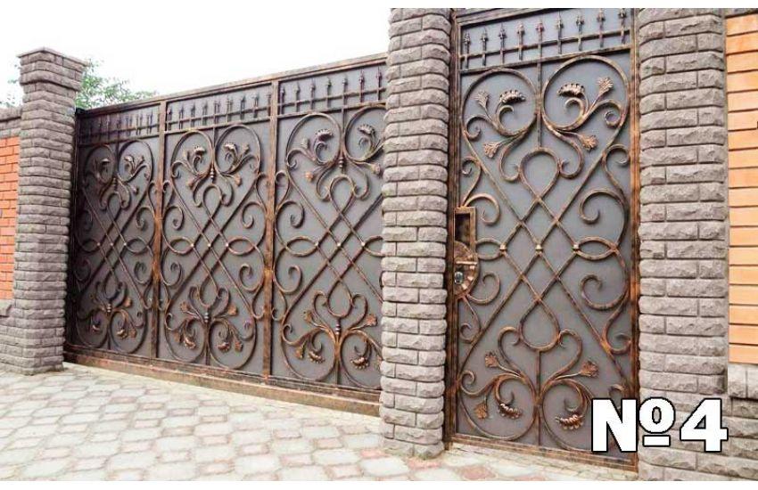 Кованые ворота в Бронницах