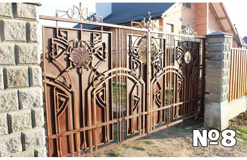 Кованые ворота для дома в Электростали