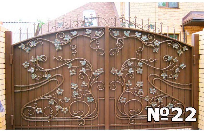 Кованые ворота в Электростали
