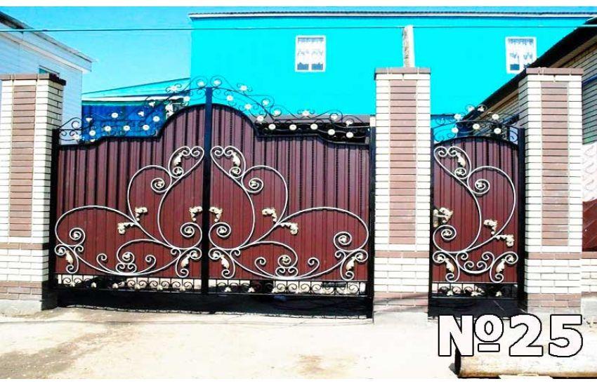 Кованые ворота в Видном