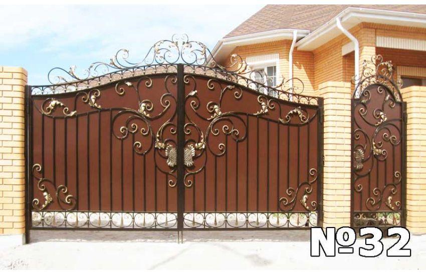 Кованые ворота в Дзержинске