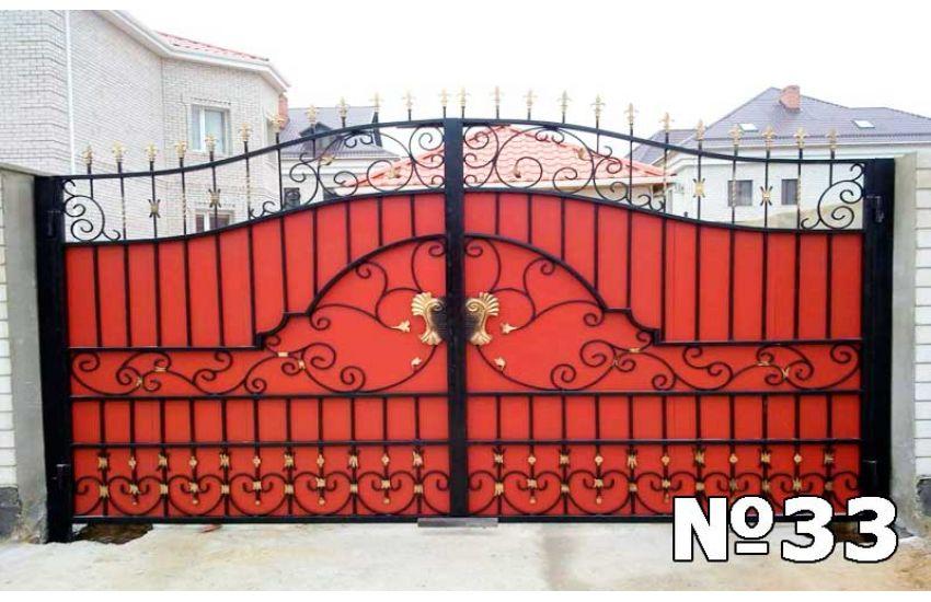 Кованые ворота в Октябрьском