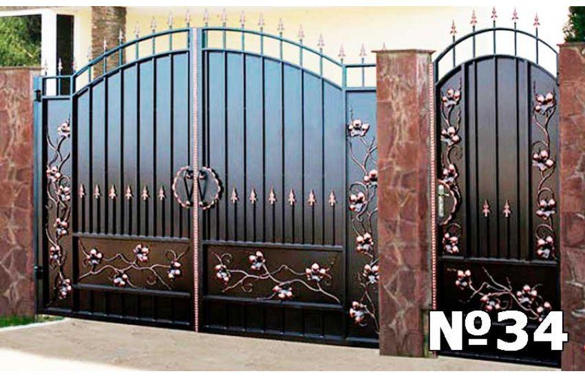 Кованые ворота в Гжели