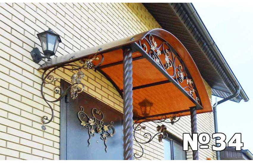 кованые козырьки над балконом фото