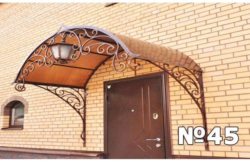 кованые козырьки дверей Бронницы