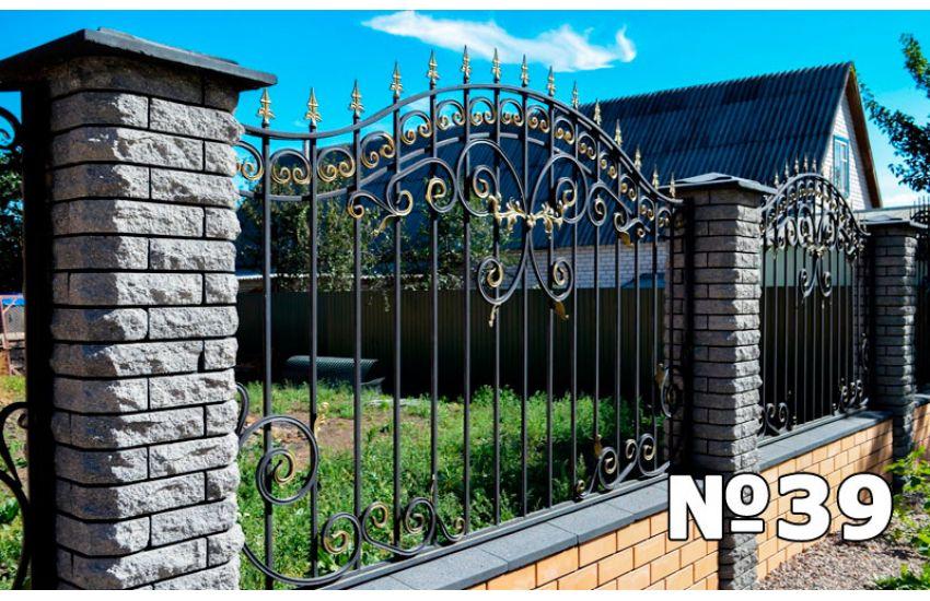 кованые заборы для дома фото