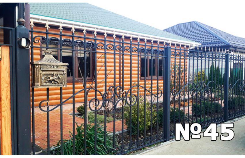 кованые заборы для частного дома цена