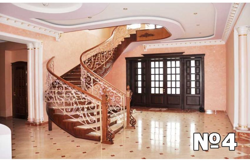 Кованые лестница и перила на заказ