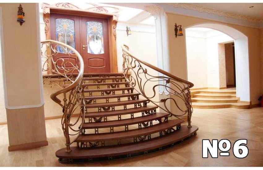 Кованые лестница и перила для дома