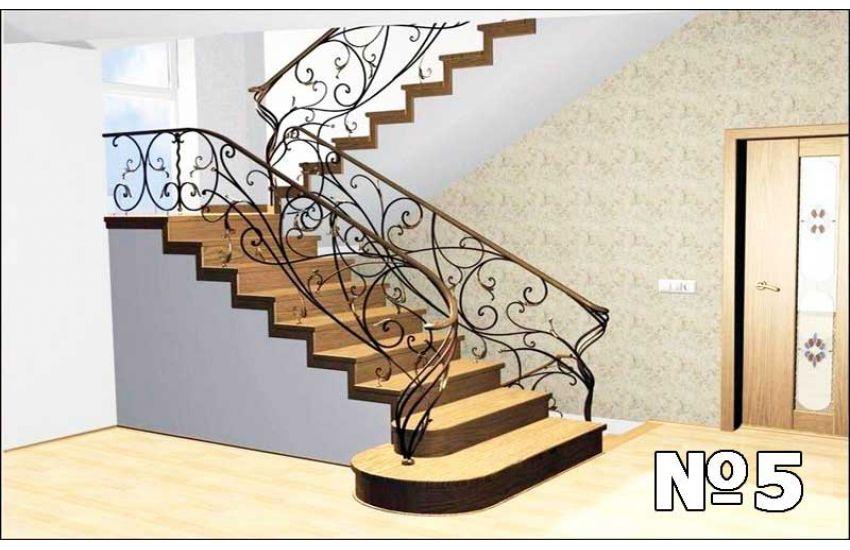 Кованые лестница и перила под заказ