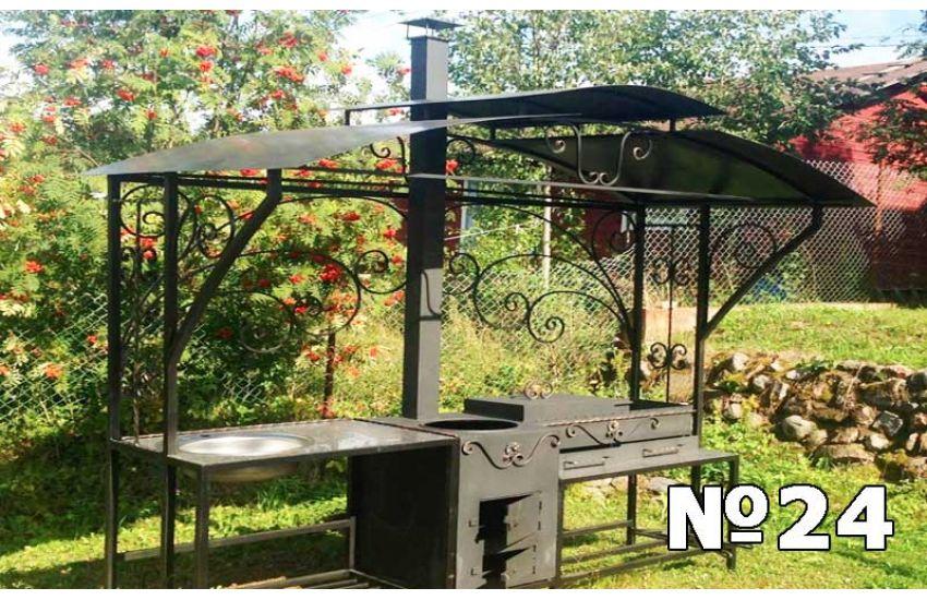 мангал с крышей для сада фото