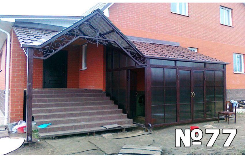 козырек над крыльцом к дому проекты металлочерепицы