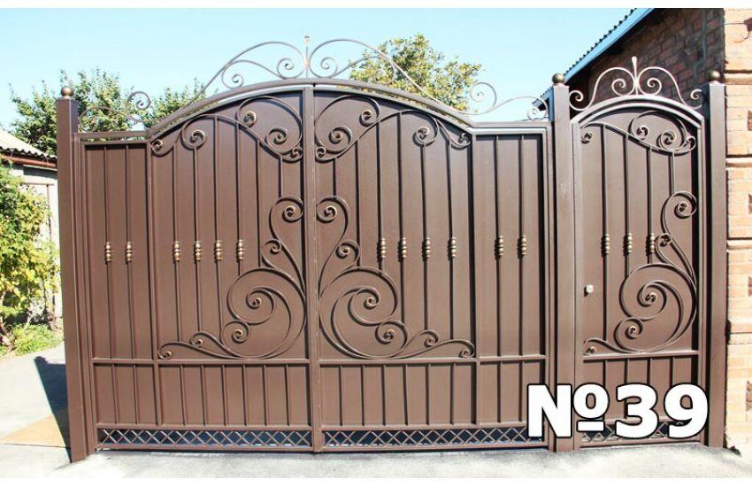 ворота распашные металлические цена