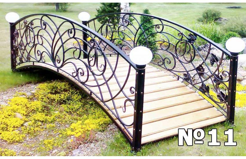 кованые мостики для сада фото