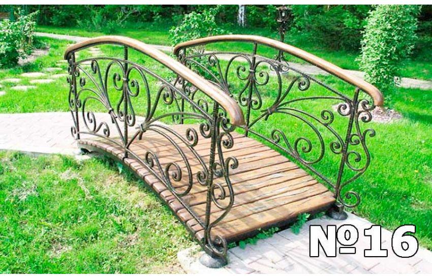 мостики кованые садовые красивые фото