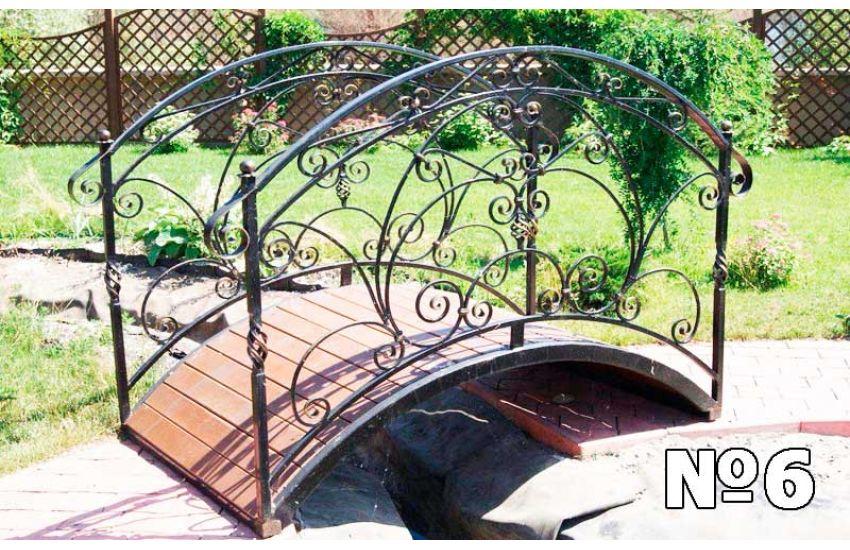 декоративные кованые мостики для сада фото