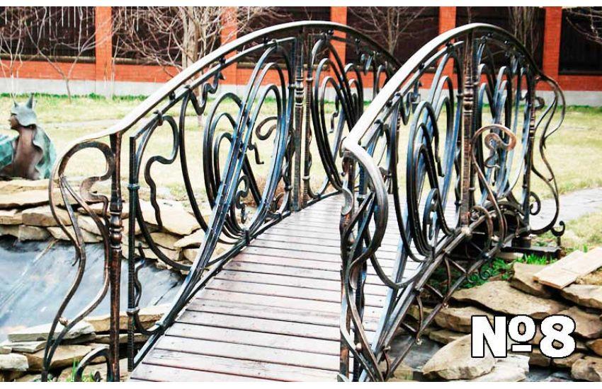 декоративные кованые мостики на даче фото