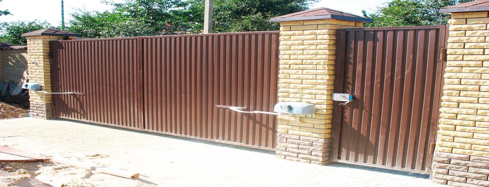 Распашные ворота в Павловском посаде
