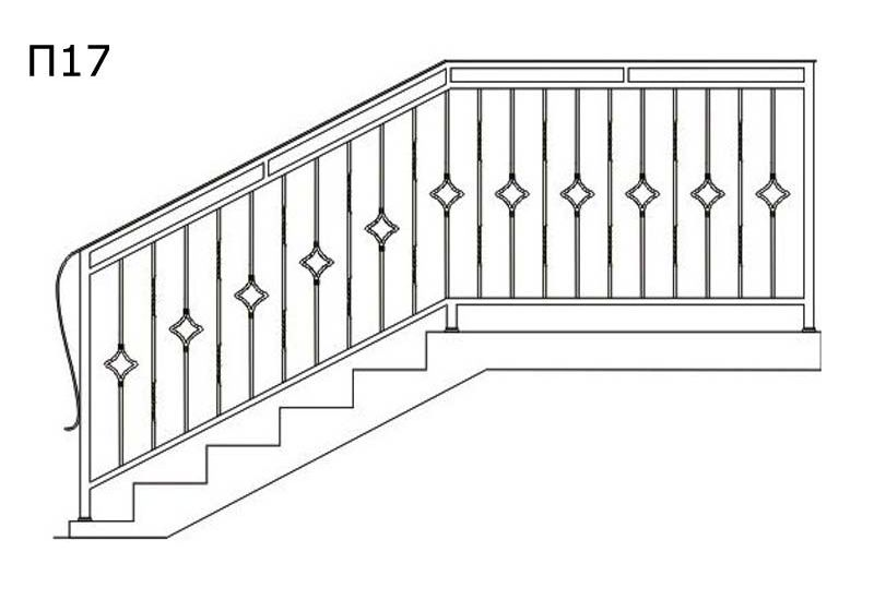 схема перил для дома