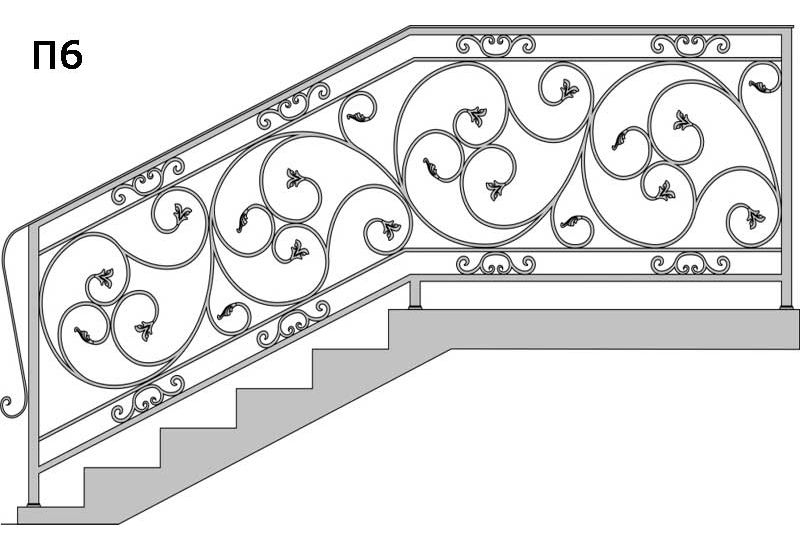 схема кованых перил