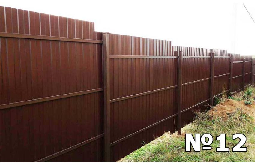 забор из профнастила бронницы