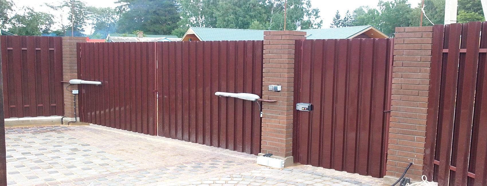 Распашные ворота в Бронницах
