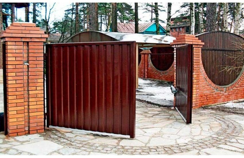 Распашные ворота в Раменском