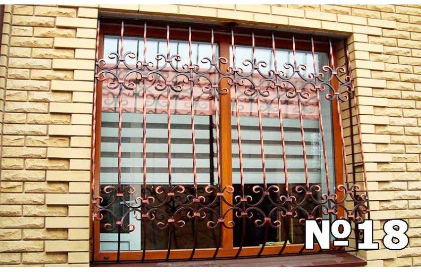 кованые решетки на окна эскиз